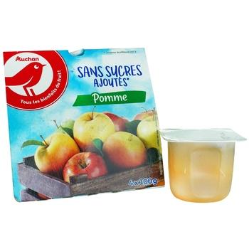 Пюре Ашан фруктове яблуко без цукру 100г - купити, ціни на Ашан - фото 1