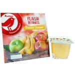 Auchan Puree Fruit Apple-banana 100g - buy, prices for Auchan - image 1