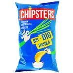 Чіпси Chipsters смак сметана з цибулею 180г