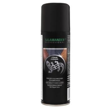 Аэрозоль Salamander Professional Combi Cleaner пена очищающая для замши кожи и текстиля 200мл