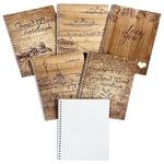Tetrada Wood A5 Checkered Notepad with Spring 48 sheets