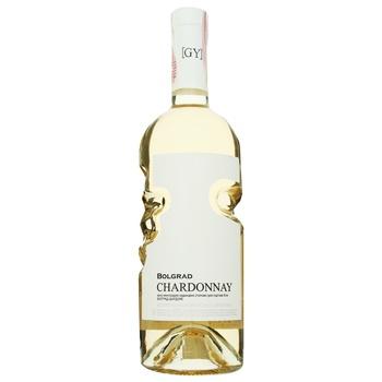 Вино Bolgrad Chardonnay белое сухое 0,75л - купить, цены на МегаМаркет - фото 1