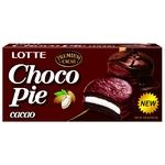 Печиво бісквітне Lotte Choco Pie Cacao прошароване глазуроване 6*28г 168г - купити, ціни на МегаМаркет - фото 1