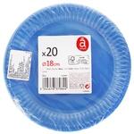 Тарелка Actuel десертная голубая 20шт*16см
