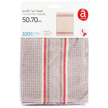 Рушник Actuel вафельний бавовна 50*70см - купити, ціни на Ашан - фото 1