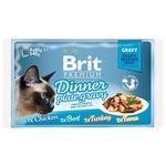 Набір вологого корму Brit Premium Обідня тарілка в соусі для котів 4шт*85г - купити, ціни на Ашан - фото 1