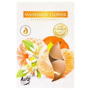 Свеча Bispol мандарин 6шт - купить, цены на Ашан - фото 1