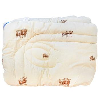 Одеяло Руно 140х205см - купить, цены на Ашан - фото 1