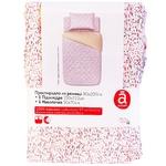 Комплект постельного белья 1,5-спальный простынь на резинке хлопок