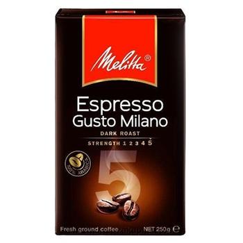 Кофе Melitta Espresso Gusto Milano молотый жареный 250г