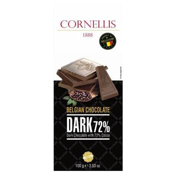 Шоколад Cornellis черный с миндалем 72% 100г - купить, цены на СитиМаркет - фото 2