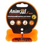 Игрушка AnimAl Fun кость для собак оранжевая 8см