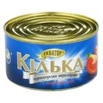 Консерва рыбная Экватор килька черноморская обжаренная в томатном соусе 230г