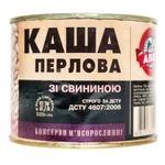Консерви Алан Каша перлова зі свининою 525г - купити, ціни на Novus - фото 1