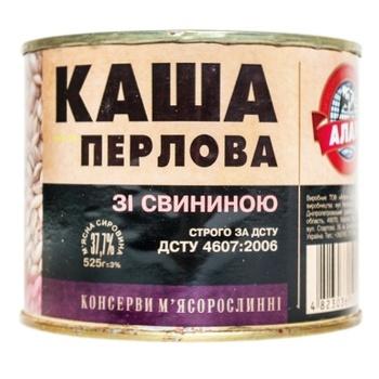 Alan Canned Pearl Barley Porridge With Pork 525g - buy, prices for Novus - image 1