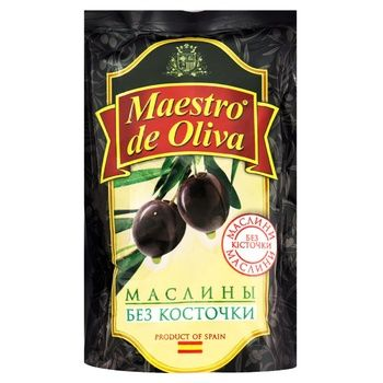 Maestro de Oliva pitted black olive 170g - buy, prices for Novus - image 1