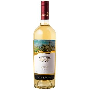 Вино Bostavan Muscat біле напівсолодке 11,5% 0,75л - купити, ціни на Novus - фото 1
