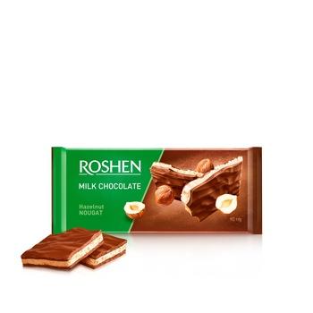 Шоколад Рошен молочний нуга горіхи 90г - купити, ціни на МегаМаркет - фото 1
