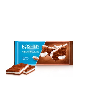 Roshen coconut nougat milk chocolate 90g - buy, prices for Novus - image 1