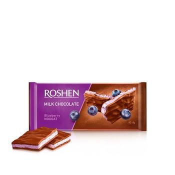Roshen bilberry nougat milk chocolate 90g - buy, prices for Novus - image 1