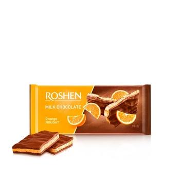Шоколад молочный Roshen с апельсиновой нугой 90г
