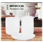 White Ceramic Bathroom Accessory Set 3pc