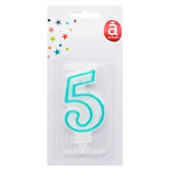 Свеча Actuel для торта цифра 5