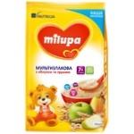 Каша молочная сухая Milupa мультизлаковая быстрорастворимая с яблоком и грушей для детей от 7-ми месяцев 210г