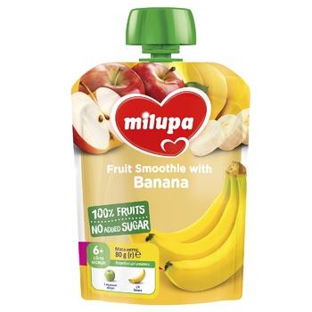 Пюре фруктовое Milupa Яблоко и Банан для детей с 6 месяцев 80г