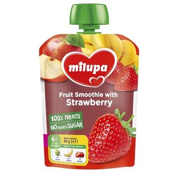 Пюре фруктовое Milupa Яблоко-Банан-Клубника для детей с 6 месяцев 80г