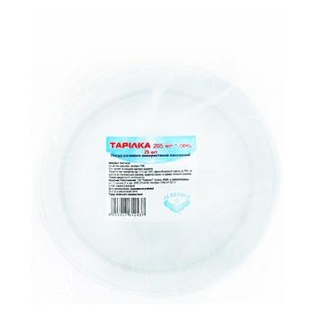 Тарiлка Plastimir одноразова 205мм 25шт - купити, ціни на CітіМаркет - фото 1