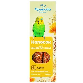 Лакомство для волнистых попугаев Природа Колосок мёд 140г 2шт