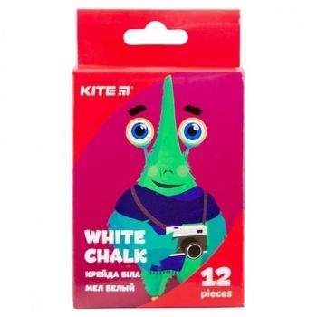 Мел Kite Jolliers белая круглая 12шт