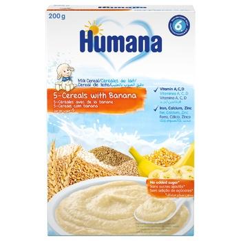 Humana for children milk porridge with banana 200g - buy, prices for Novus - image 1