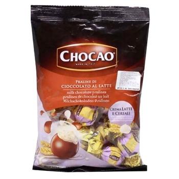 Конфеты Vergani Chocаo с начинкой из молочного крема и злаков в молочном шоколаде 125г