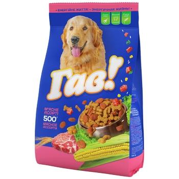 Корм сухий Гав! для дорослих собак М'ясне асорті 500г - купити, ціни на CітіМаркет - фото 1
