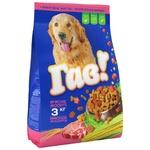 Корм сухий Гав! для дорослих собак М'ясне асорті 3кг