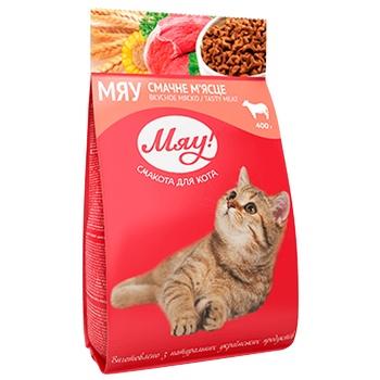 Корм Мяу Мясной для котов 400г