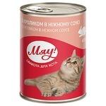 Корм Мяу Кролик в нежном соусе для взрослых кошек 415г