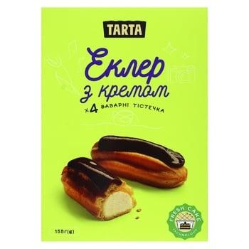Пирожное Tarta Эклер с кремом 155г - купить, цены на Фуршет - фото 1
