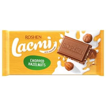 Шоколад экстрамолочный Рошен Классик с дроблеными лесными орехами 90г - купить, цены на Ашан - фото 3