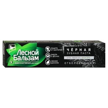 Зубная паста Лесной бальзам уголь и мята отбеливающая 75мл