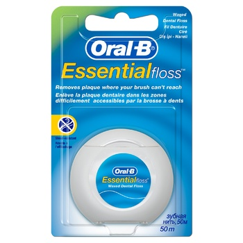 Oral-B Essential Mint Dental Floss Waxed 50m - buy, prices for EKO Market - photo 1