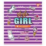 Yes Style Girl A5 Checkered Notebook 18 sheets