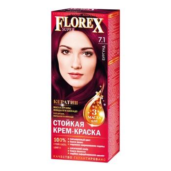 Крем-краска Florex для волос цвет бургунди