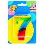 Свеча для торта Веселая затея цифра 7 8см