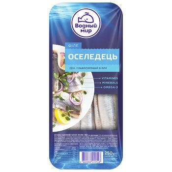 Vodniy Myr Softsalted Herring Fillets In Oil 250g - buy, prices for Furshet - image 1
