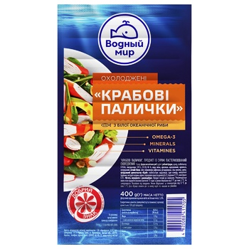 Vodnyi Mir Chilled Crab Sticks 400g - buy, prices for MegaMarket - image 1