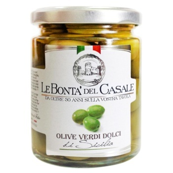 Оливки Le Bonta'del Casale сицилійські з кісточкою 314мл - купити, ціни на Восторг - фото 1
