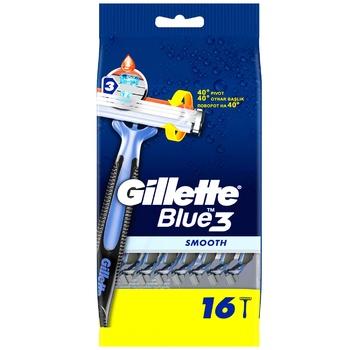 Бритва Gillette Blue3 Smooth одноразова 16шт - купити, ціни на Ашан - фото 2
